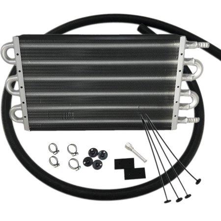 6 Row Radiator Remote Aluminum Transmission Oil Cooler & Mounting Kit -  Walmart com