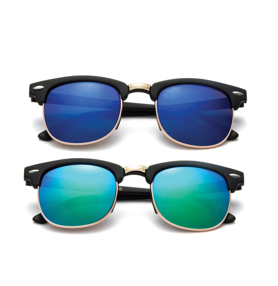 "Newbee Fashion - ""Justin"" Kids Vintage Fashion Sunglasses with Flash Lens"