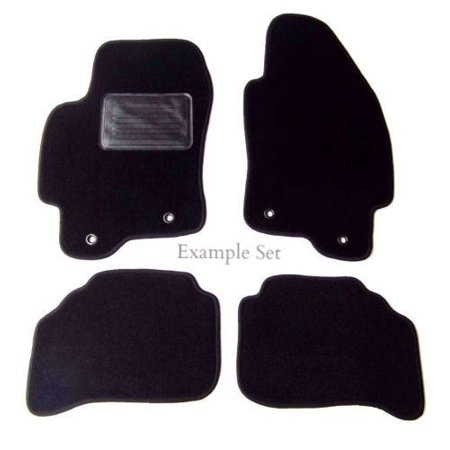Custom Fit Black Carpet 4 Piece Floor Mat Set with Heel Pad & Serged Edging - Fits Audi 80 1988-1992 ()