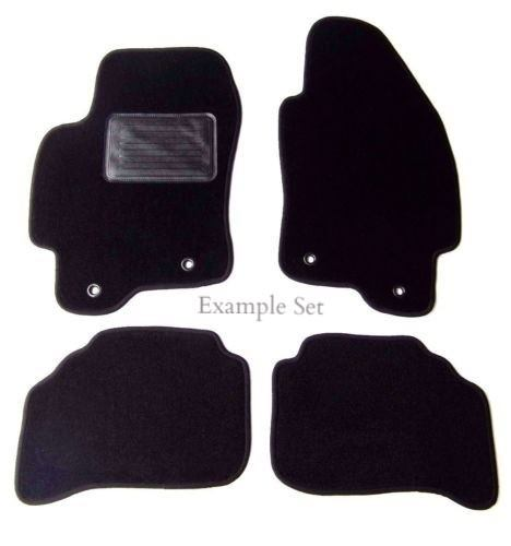 Custom Fit Black Carpet 4 Piece Floor Mat Set with Heel Pad & Serged Edging - Fits Nissan Altima Coupe 2008-2013