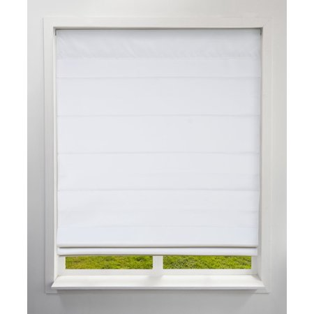 Kona Natural Roman Shade (Arlo Blinds Cordless Fabric Roman Shades Blackout Cloud White,22