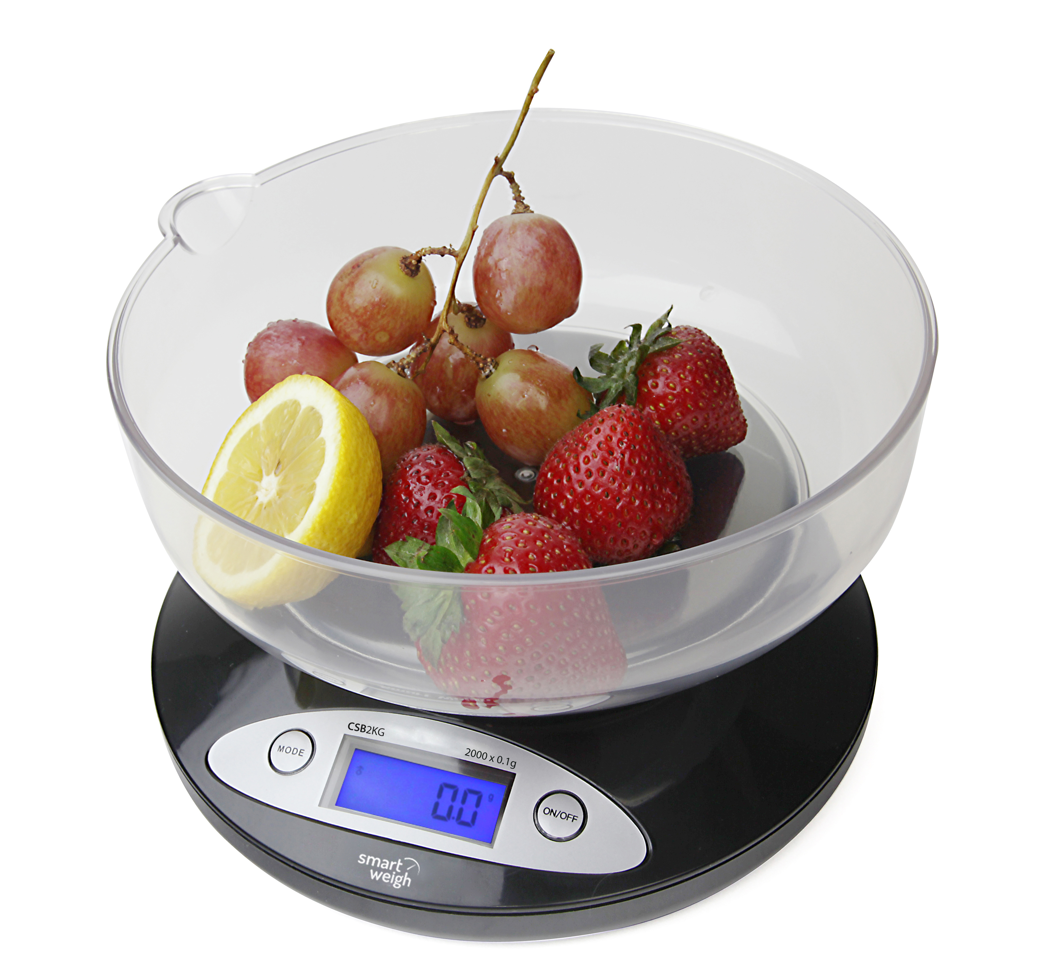 Smart Weigh Kitchen Digital Food Scale for Bake + Diet w/ Bowl 4.4lbs x 0.01oz