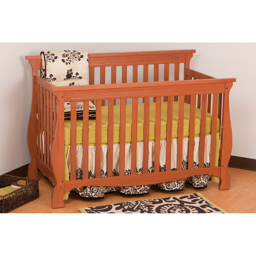 Storkcraft Carrara Fixed Side Convertible Crib in Oak