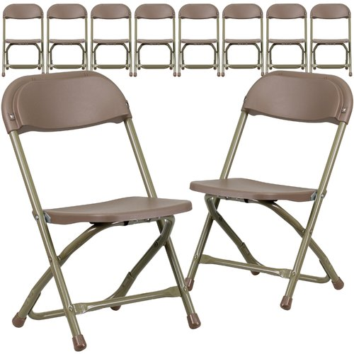 Flash Furniture Kids Plastic Folding Chair, Pack of 10