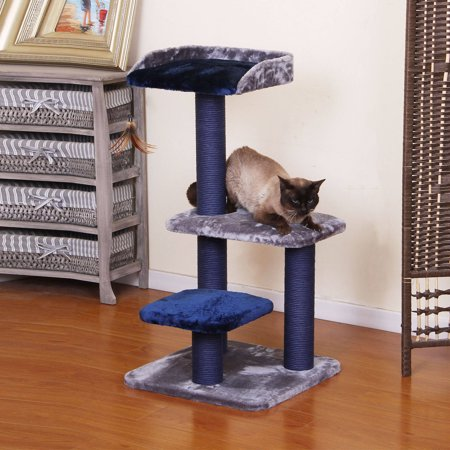 Petpals Group Fern Elegant Metallic And Ocean Blue Color Cat Tree