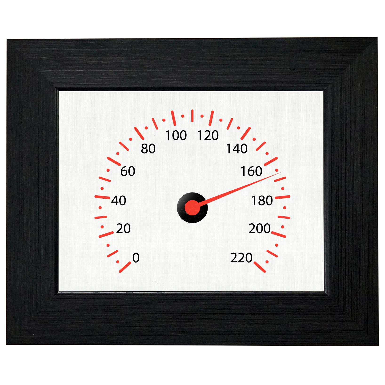 Simple Speedometer Graphic - Race Car Driving Framed Print Poster Wall or Desk Mount Options