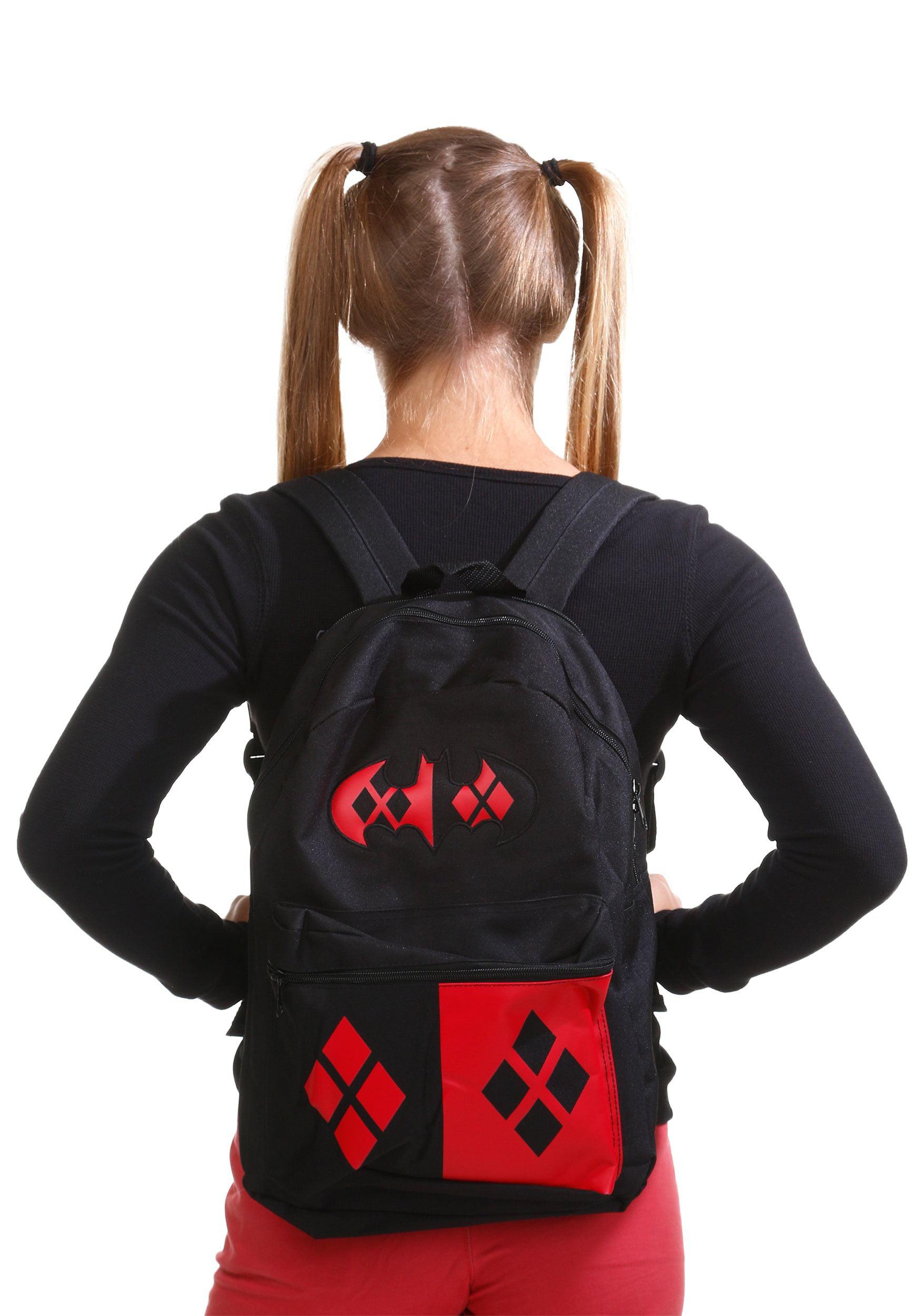8d2f7a2f4ee Harley quinn hood backpack jpg 1750x2500 Harley quinn book bag