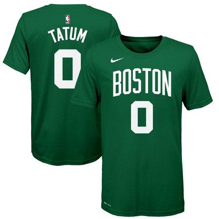 the latest d39f3 04fa5 Jayson Tatum Boston Celtics Nike Youth Name & Number T-Shirt - Green