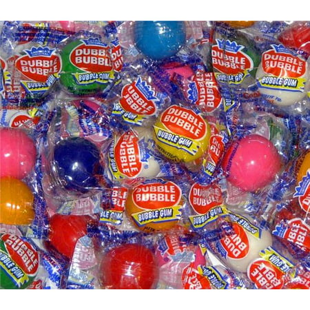 - BAYSIDE CANDY GUMBALLS ASSORTED FLAVORS WRAPPED BUBBLE GUM 25mm or 1 inch, 1LB