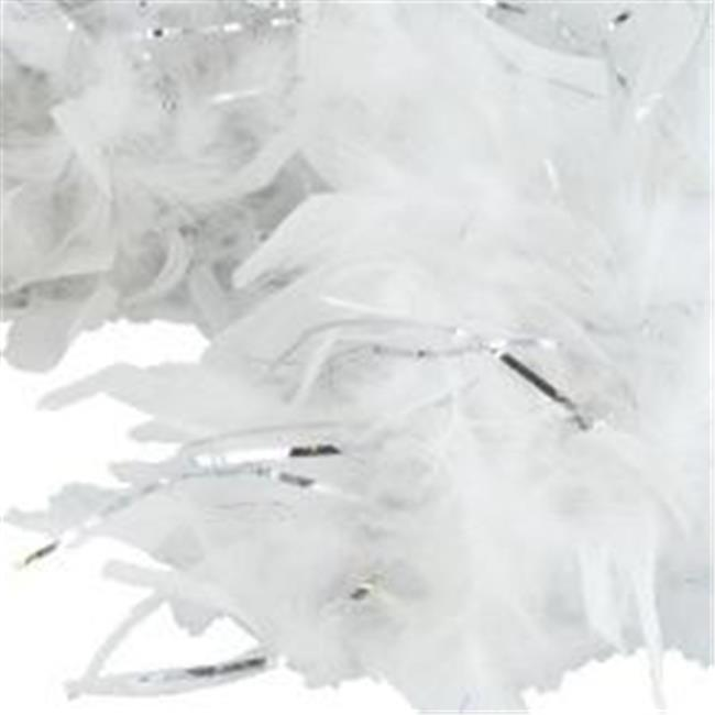 Hayes Specialties 1981907 Feather Boa - White & Silver, C...
