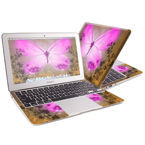 "Mightyskins Protective Skin Decal Cover for Apple MacBook Air 13"" (2010-2017 Model) with 13.3 inch screen wrap sticker skins Butterfly Love"