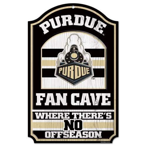 Purdue Boilermakers Fan Cave Wood Sign