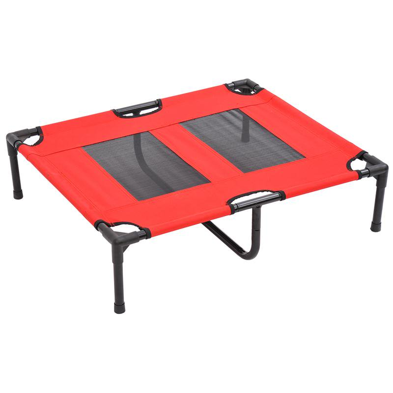 """Anself 36"""" x 30"""" Elevated Dog Bed / Pet Cot - Red"""