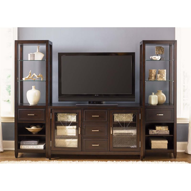 Liberty Furniture Caroline Entertainment Center in Espresso Stain