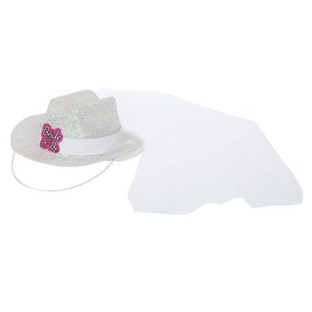 Mini White Bride To Be Bachelorette Cowgirl Hat for $<!---->