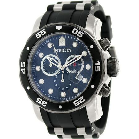 17879 Men's Pro Diver Black Carbon Fiber Dial Chronograph Dive Watch Carbon Fiber Chronograph Watch