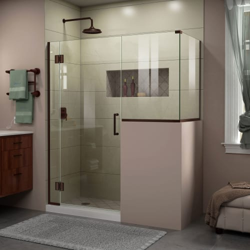 "DreamLine E123183440 Unidoor-X 72"" High x 47"" Wide x 40-3/8"" Deep Hinged Framele"