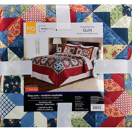 Mainstays Shooting Star Classic Patterned Red Full/Queen Quilt