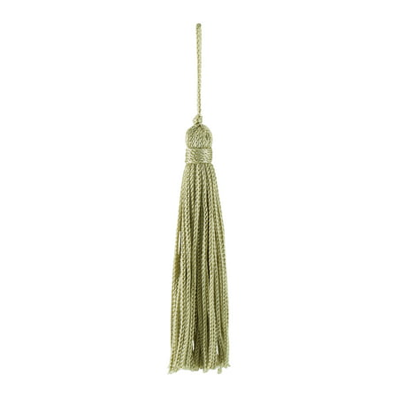 Set of 10 Sage Chainette Tassel, 3 Inch Long with 1 Inch Loop, Basic Trim Collection Style# RT03 Color: SAGE GREEN- (Chainette Rayon Tassels)