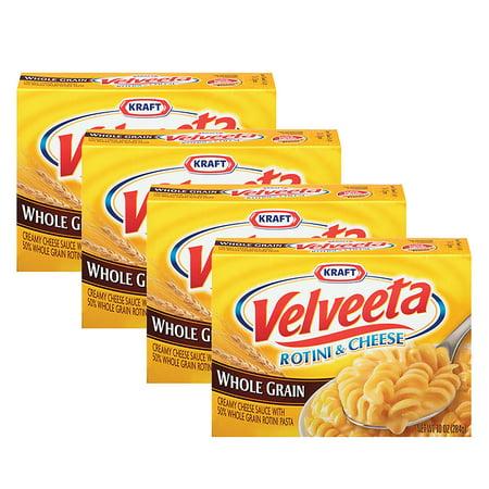 - (4 Pack) Kraft Velveeta Whole Grain Rotini & Cheese, 10 oz Box