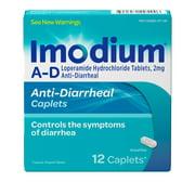 Imodium A-D Diarrhea Relief Caplets, Loperamide Hydrochloride, 12 ct.
