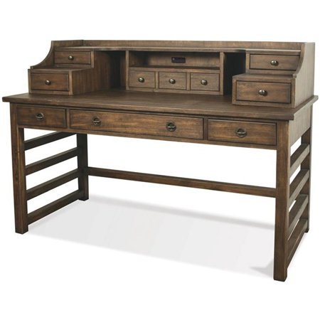 Riverside Furniture Perspectives Writing Desk in Brushed Acacia