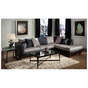 2-Pc Sleek Sectional Set in Gray