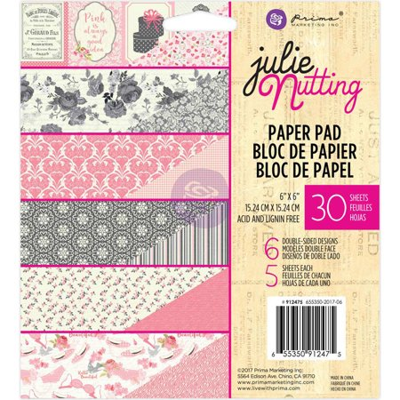 "Prima Marketing Double-Sided Paper Pad 6""X6"" 30/Pkg-Julie Nutting, 6 Designs/5 Each - image 1 de 1"