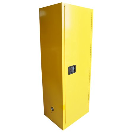 INTBUYING Flammable Safety Cabinet 22 Gal Yellow Security Shelving Storage Bins - image 4 de 5