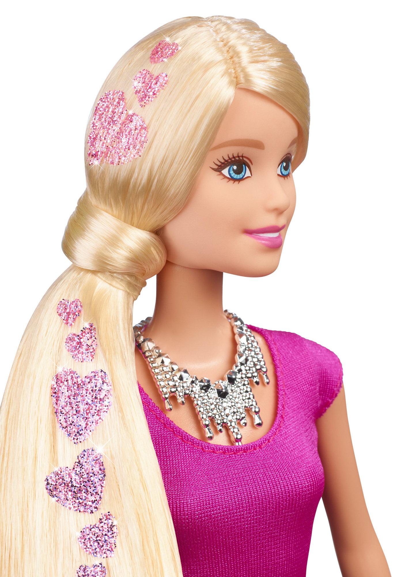 Barbie Glitter Hair Doll Walmartcom - Doll hairstyles barbie
