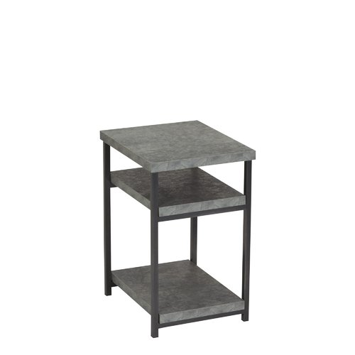 17 Stories Vlad Slate Faux Concrete Low End Table