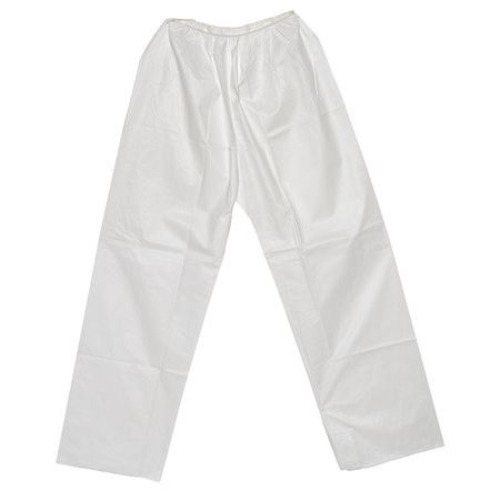 PANT-KG-XL Disposable Pants, XL, White, Elastic Waist