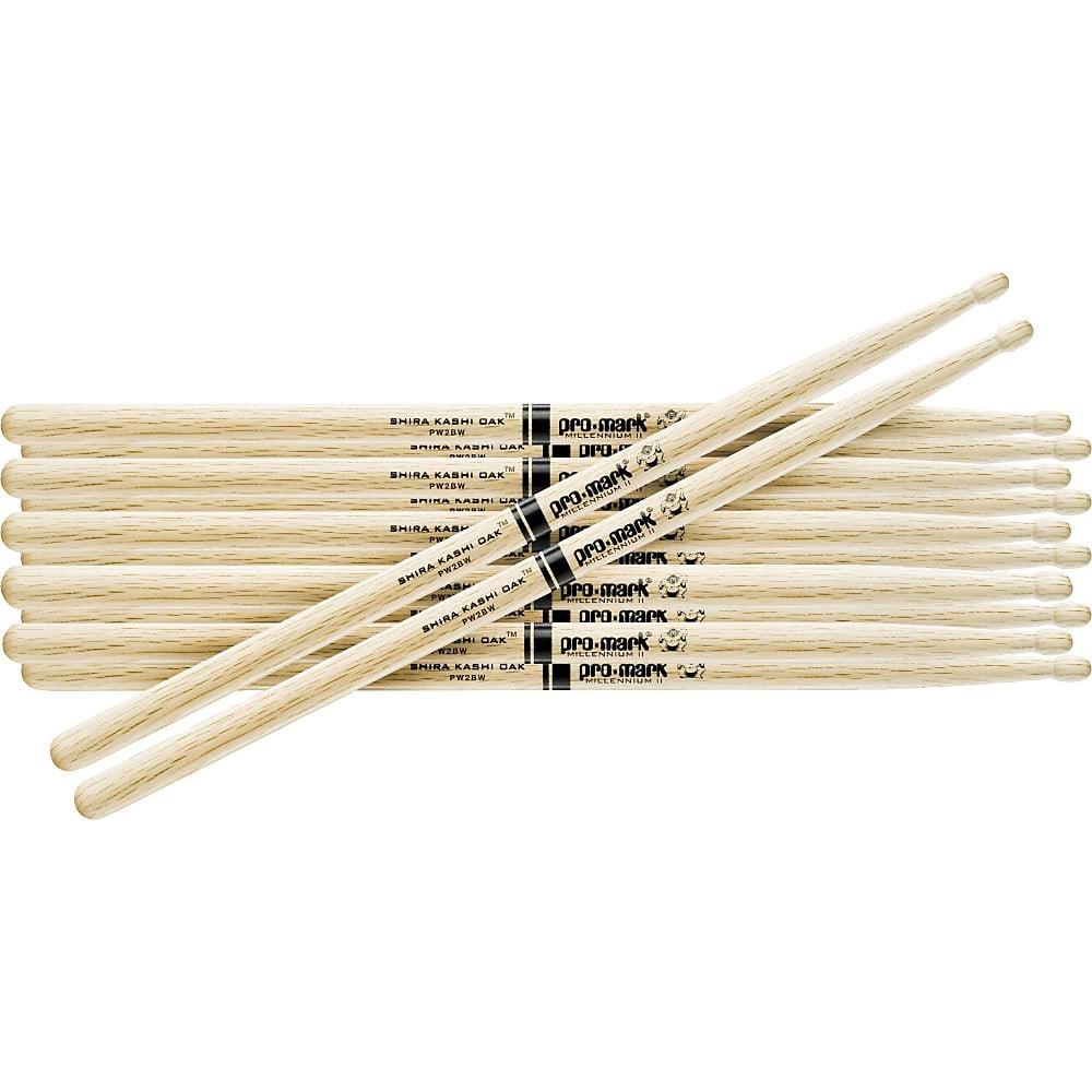 PROMARK 6-Pair Japanese White Oak Drumsticks Wood 5B