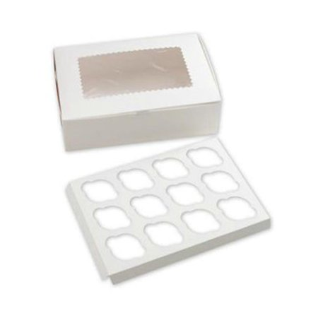 Bags & Bows by Deluxe 1410CI-261 White Standard Cupcake Platforms - 12 Cup - Case of 100