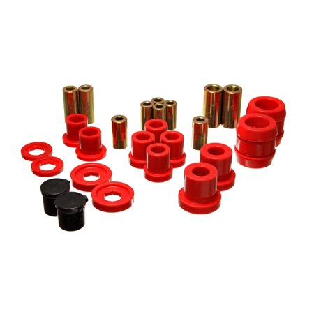 Energy Suspension 00-09 Honda S2000 Red Front End Control Arm Bushing Set