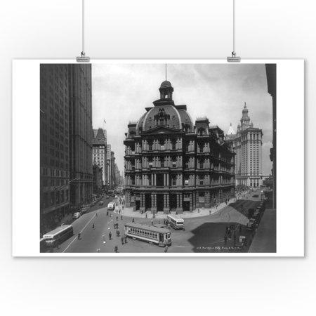 United States Post Office Building on Broadway & Prk Row NYC Photo (9x12 Art Print, Wall Decor Travel Poster)](Halloween Store Broadway Nyc)