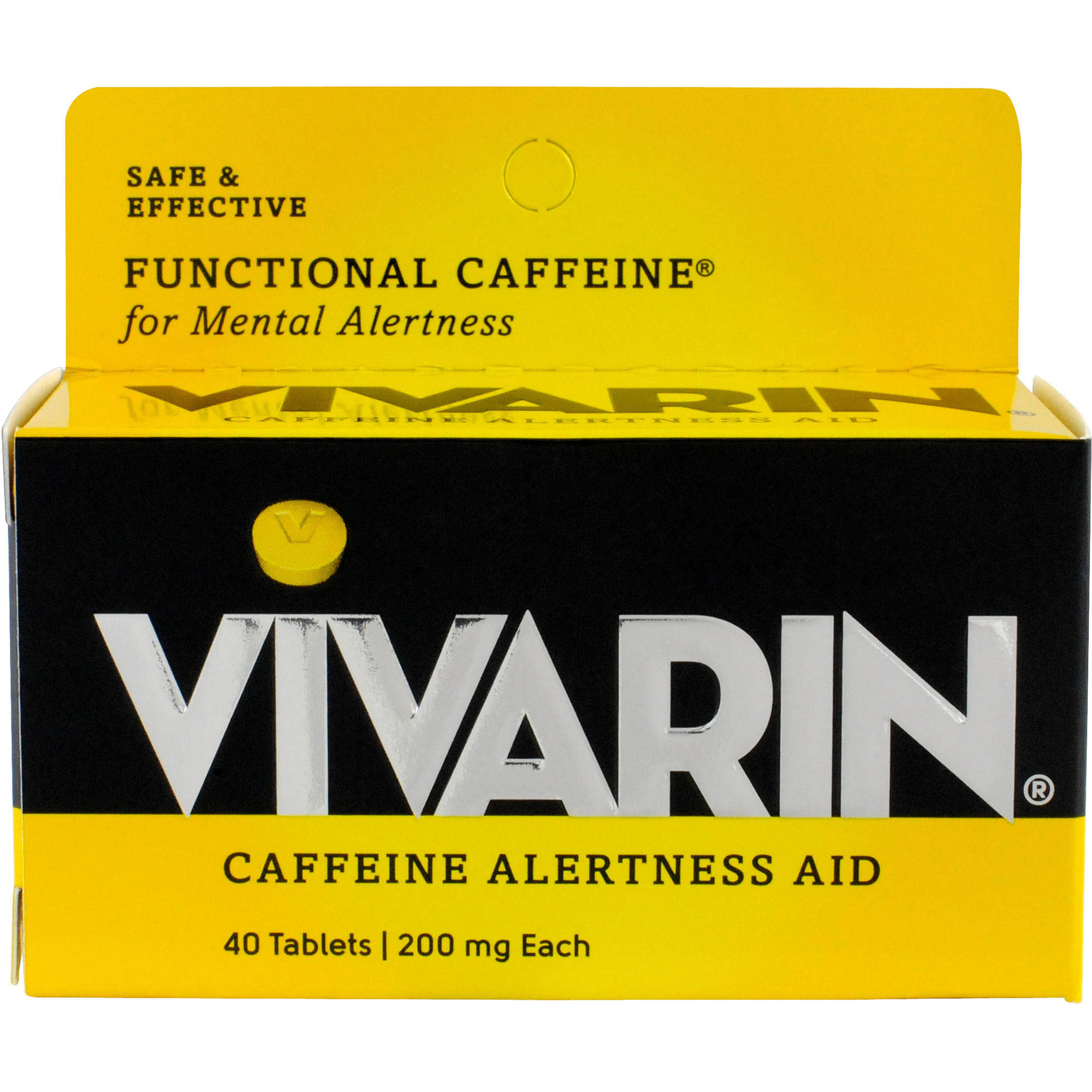 Vivarin Caffeine Alertness Aid, 200mg, 40 count
