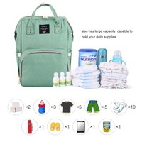 Backpack Diaper Bag, Vbiger All-in-One Waterproof Maternity Nappy Bag Large Capacity Travel Backpack for Baby Care