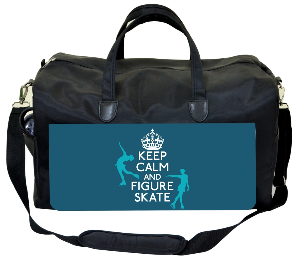 Keep Calm and Figure Skate Jacks Outlet TM Skating Bag by Jacks Outlet