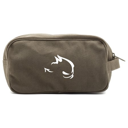 GTI Devil Canvas Dual Two Compartment Travel Toiletry Dopp Kit Bag ()