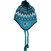 "San Jose Sharks Knit ""Tonal Logo Series"" Beanie with tassels and ear flaps Hat"