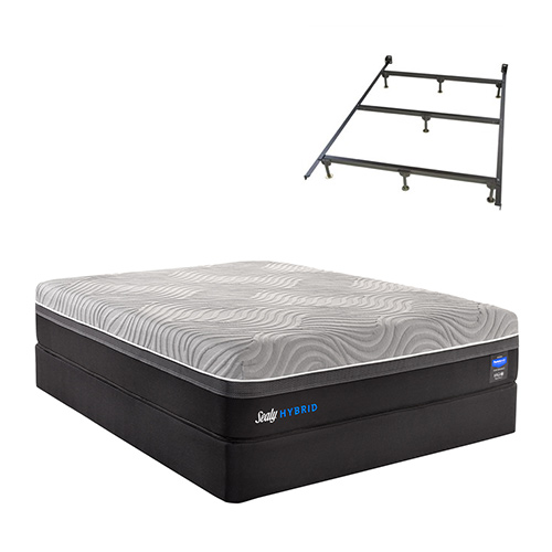 sealy hybrid performance copper ii cal king size firm mattress and high profile box spring set. Black Bedroom Furniture Sets. Home Design Ideas