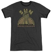 Sun Records Original Son Mens Adult Heather Ringer Shirt