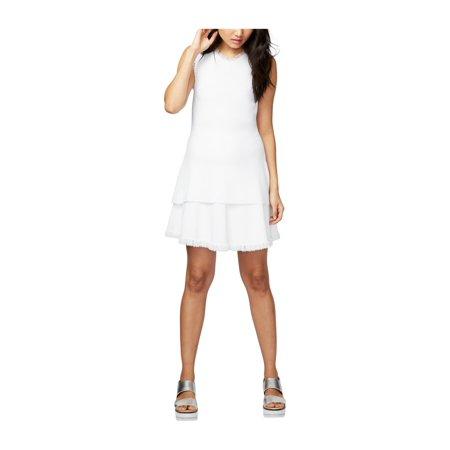 Rachel Roy Womens Fringed Tunic Dress white S - image 1 de 1
