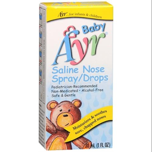 Ayr Baby Saline Nose Spray/Drops 30 mL (Pack of 3)