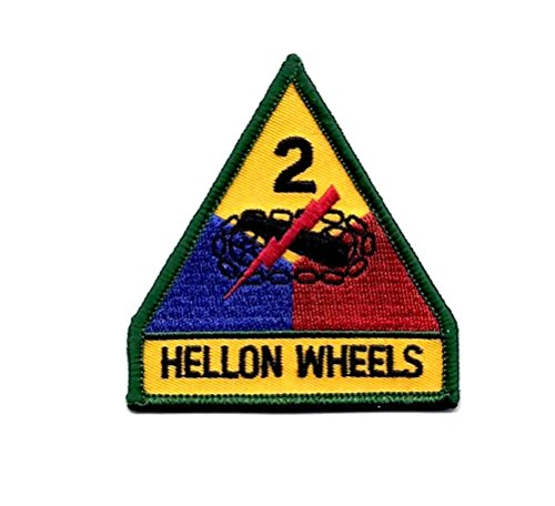 Army 2nd Armored Division Hell On Wheels Embroidered Military Patch Sew or Iron AKPM203
