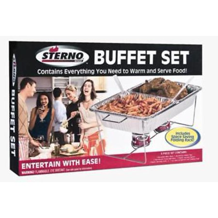 8 Piece Sterno Full Size Buffet Set Includes 1 Each Reusable Wire Rack Only One (Chafing Rack)