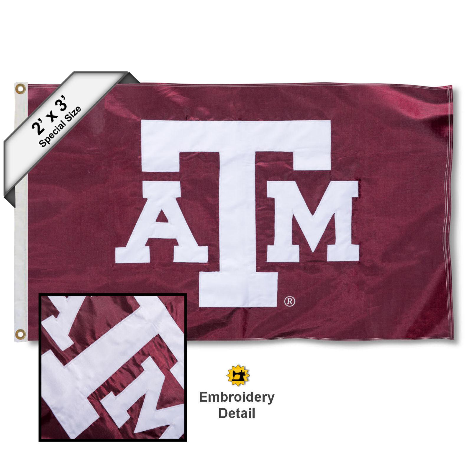 Texas A&M Aggies 2' x 3' Applique Flag