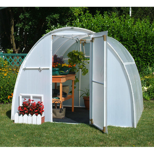 Solexx Early Bloomer 8 Ft. W x 8 Ft. D Polyethylene Greenhouse