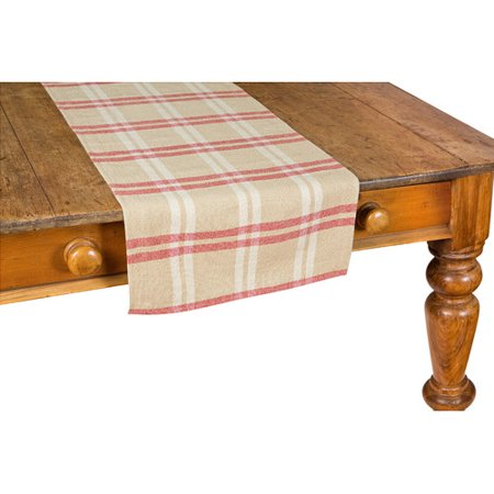 Xia Home Fashions Check Linen Table Runner
